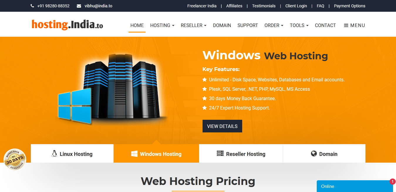 hosting.india.to